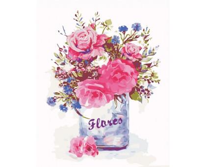 Картина по номерам Цветочный стиль
