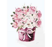 Картина по номерам Букет чайных роз