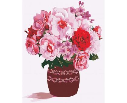 Раскраска по номерам Розовый букет