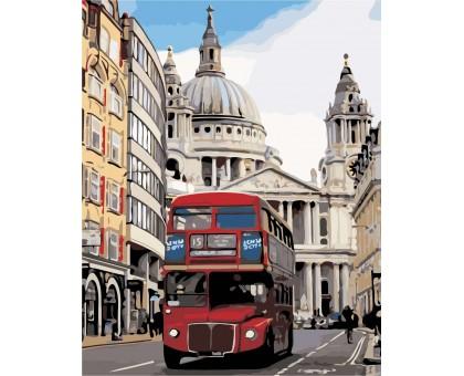 Раскраска по номерам Лондонский автобус