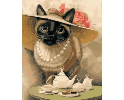 Картина по номерам Леди-кошка