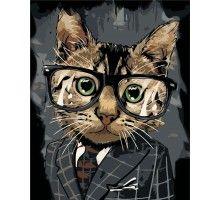Картина по номерам Офисный кот