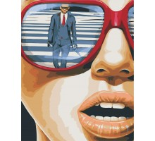 Картина по номерам Глазами женщины