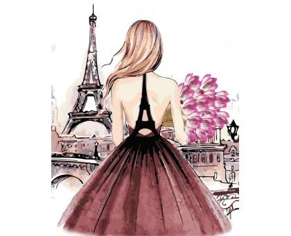 Картина по номерам Красотка в Париже