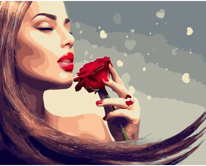 Картина по номерам Аромат розы