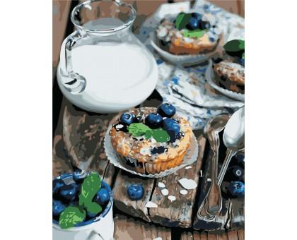 Картина по номерам Вкусный завтрак