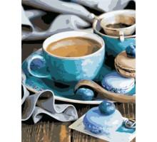 Картина по номерам За чашечкой кофе