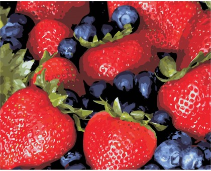 Картина по номерам Сочные ягоды