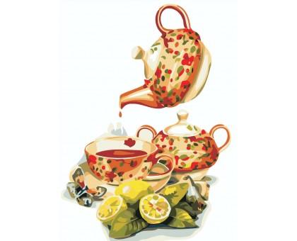 Картина по номерам Чай с лимоном