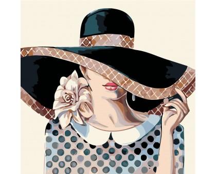 Картина по номерам Дама в шляпе