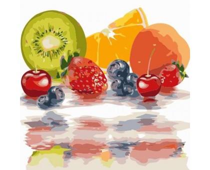 Картина по номерам Яркие фрукты