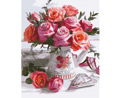 Картина по номерам Букет роз
