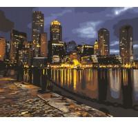 Картина по номерам Ночной мегаполис