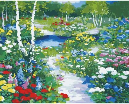 Картина по номерам Цветочная поляна