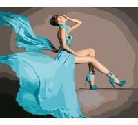 Картина по номерам Бирюзовое платье