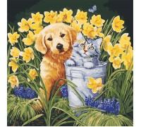 Картина по номерам В саду