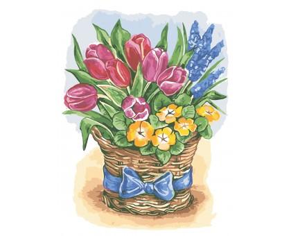 Картина по номерам Праздничные цветы