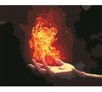 Картина по номерам Пламя в ладони