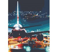 Картина по номерам Огни аэропорта