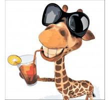 Картина по номерам Веселый жираф