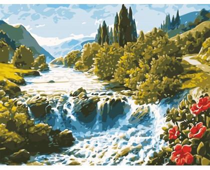 Картина по номерам Волшебный водопад