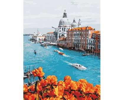 Картина по номерам Город на воде