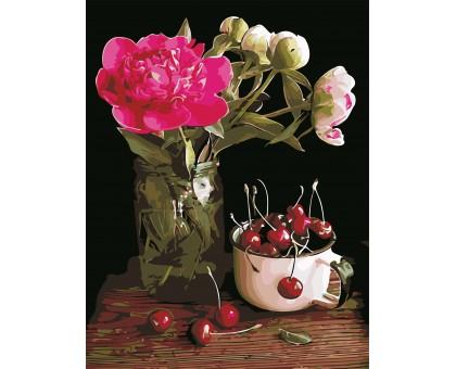 Картина по номерам Пион и вишни