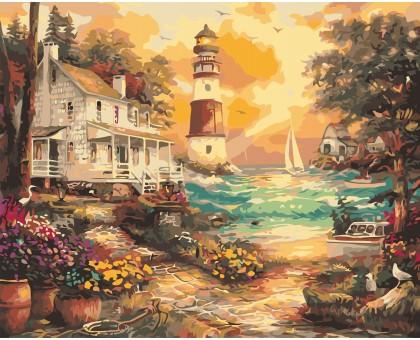Картина по номерам Дом возле маяка
