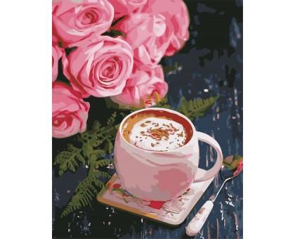 Картина по номерам Розы и латте