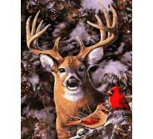 Картина по номерам В зимнем лесу