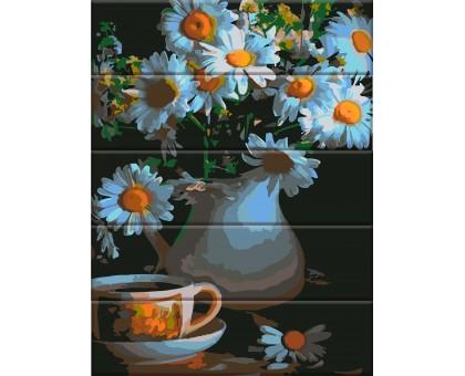 Картина по номерам Ромашки в вазе