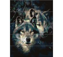 Картина по номерам Влюбленные волки