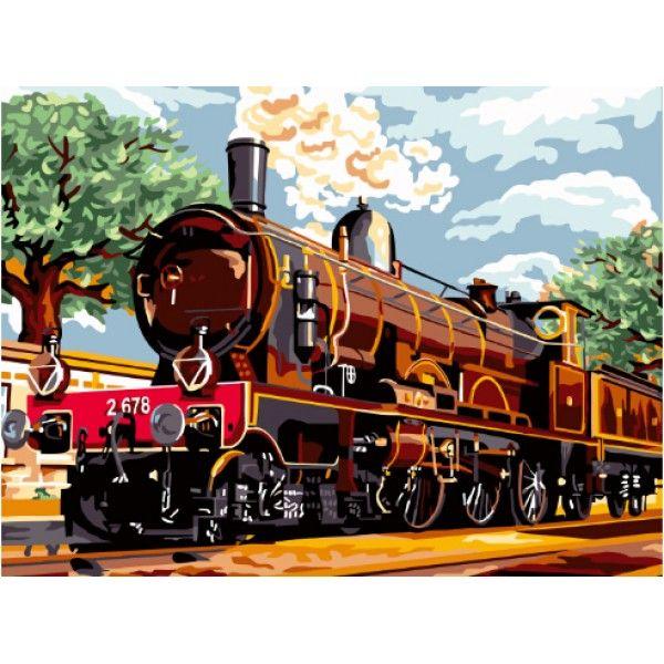 Картина по номерам Старинный поезд