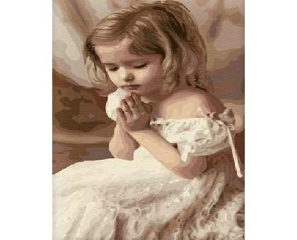 Картина по номерам Молитва ребенка