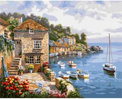 Картина по номерам Дом на берегу океана