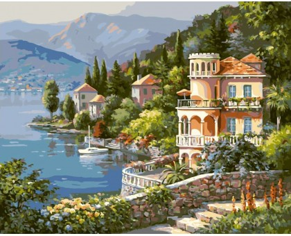 Картина по номерам Цветущее побережье