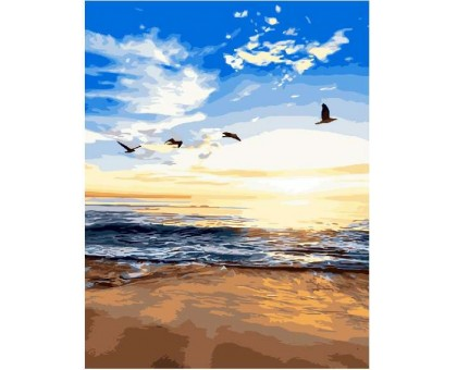 Картина по номерам Утренний пляж