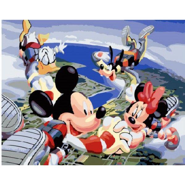 Картина по номерам Вселенная Микки Мауса (Без коробки)