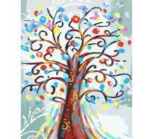 Картина по номерам Цветущее дерево