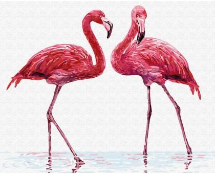 Картина по номерам Нежные фламинго