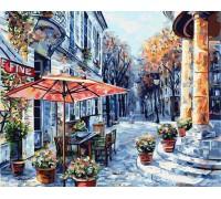 Картина по номерам Утро на цветочной улочке (БЕЗ КОРОБКИ)