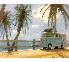 Картина по номерам Маями в стиле ретро