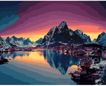 Картина по номерам Северный закат