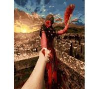 Картина по номерам Следуй за мной Барселона (БЕЗ КОРОБКИ)