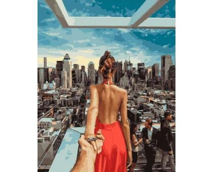 Картина по номерам Следуй за мной Манхеттен 2 (БЕЗ КОРОБКИ)