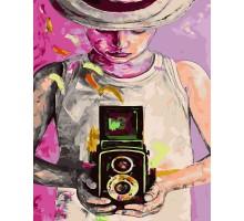 Картина по номерам Девушка фотограф