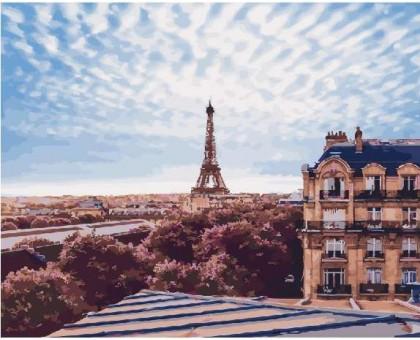 Картина по номерам Небо Парижа
