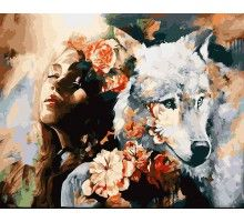 Картина по номерам Белая волчица