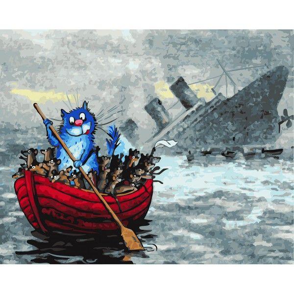 Картина по номерам В одной лодке (Без коробки)