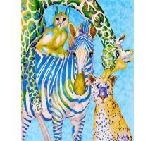 Раскраска по номерам Яркий зоопарк